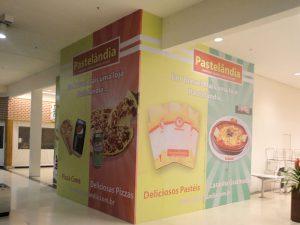 Tapume adesivado Shopping Bonsucesso, Pastelandia