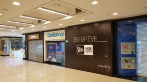 Adesivação de Tapume Shopping Colinas, Loja New Era