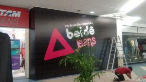 Adesivo Para Tapume, Beidê Jeans Internacional Shopping
