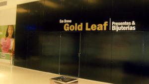Adesivagem Tapume Parque Shopping Barueri, Loja Gold Leaf