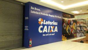 Tapume Adesivado Shopping Vila Olímpia Lotérica A Preferida